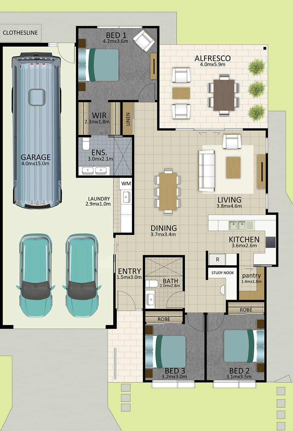 HR LAT25 Floorplan LOT 163 Watson MK3 OCT19 V1 - Lot 163
