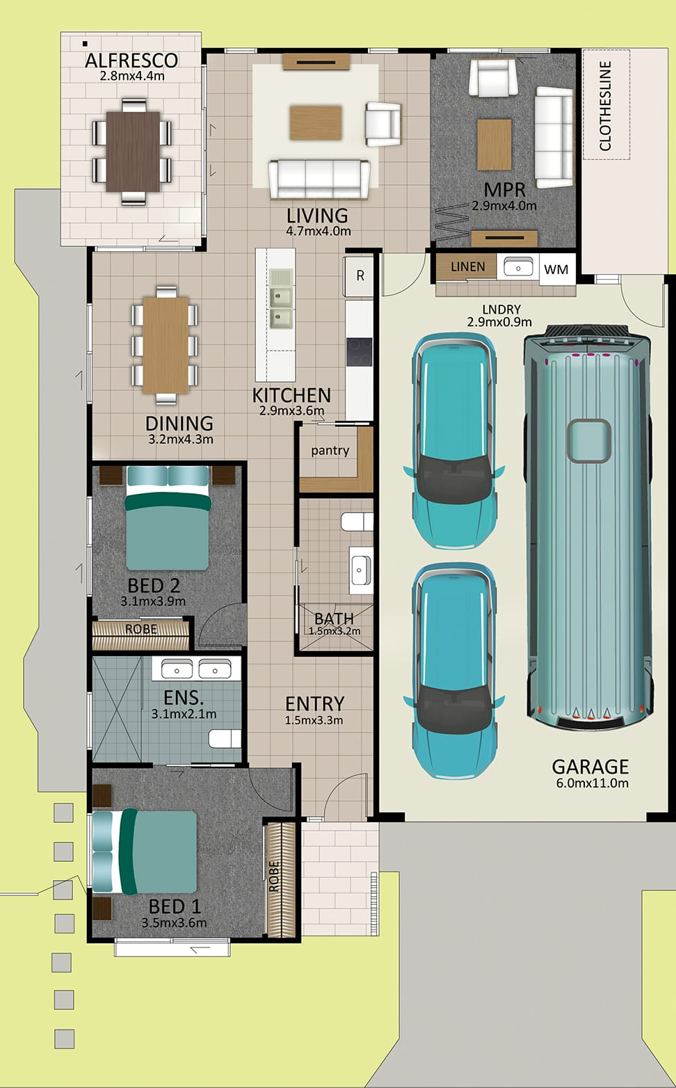HR LAT25 Floorplan LOT 164 Davidson MK2 OCT19 V2 - Lot 164