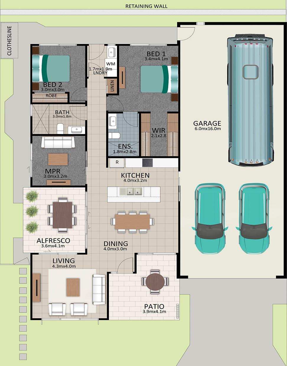 LAT25 Floorplan GAL OCT20 LOT 205 - Lot 205