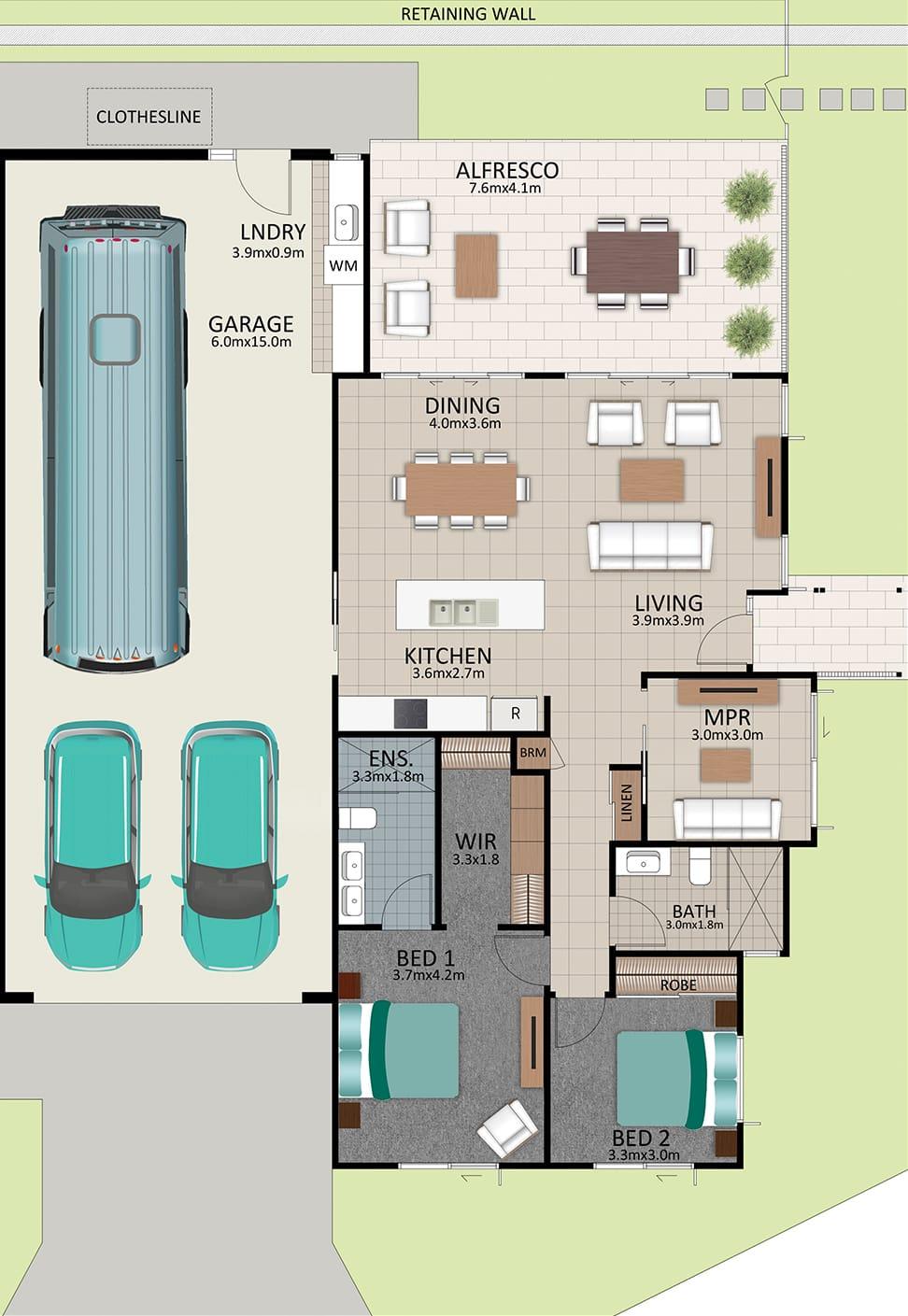 LAT25 Floorplan GAL OCT20 LOT 206 - Lot 206