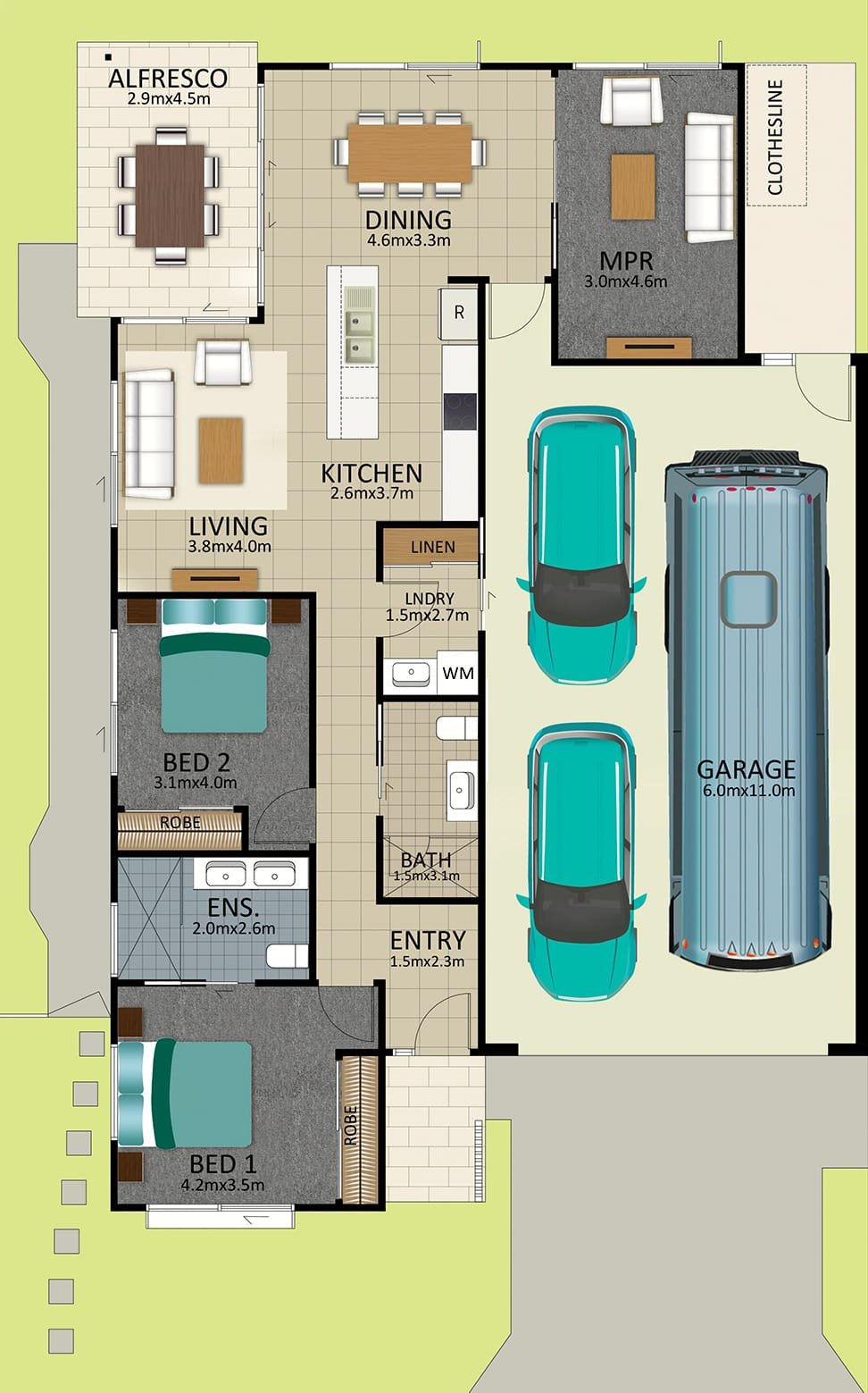 LR WEB LAT25 Floorplan Davidson FEB19 - Lot 100