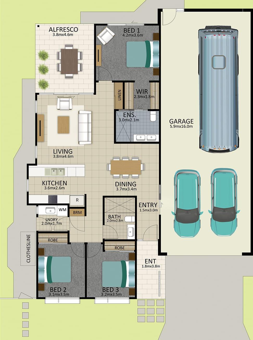 LR WEB LAT25 Floorplan LOT 160 Watson JUL19 V1 - Lot 160
