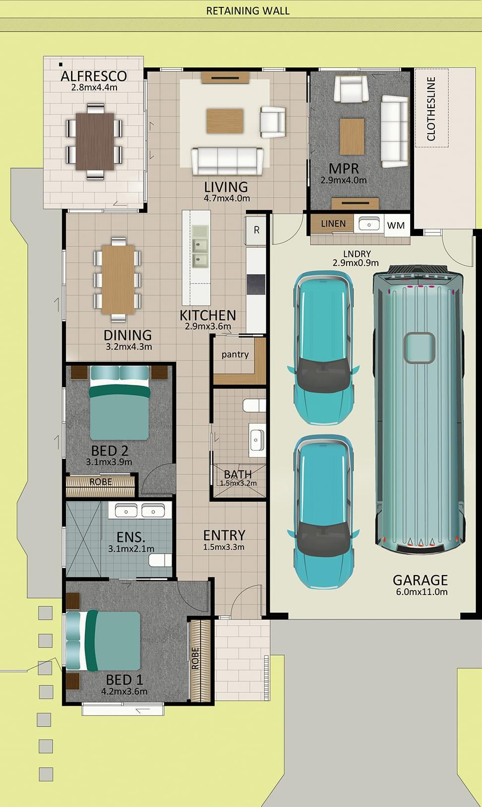 LR WEB LAT25 Floorplan LOT 164 Davidson MK2 JUL19 V2 - Lot 164