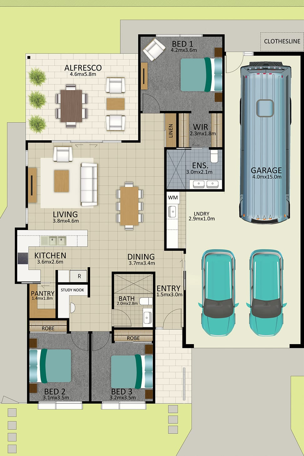 LR WEB LAT25 Floorplan LOT 168 Watson MK3 JUL19 V2 - Lot 168