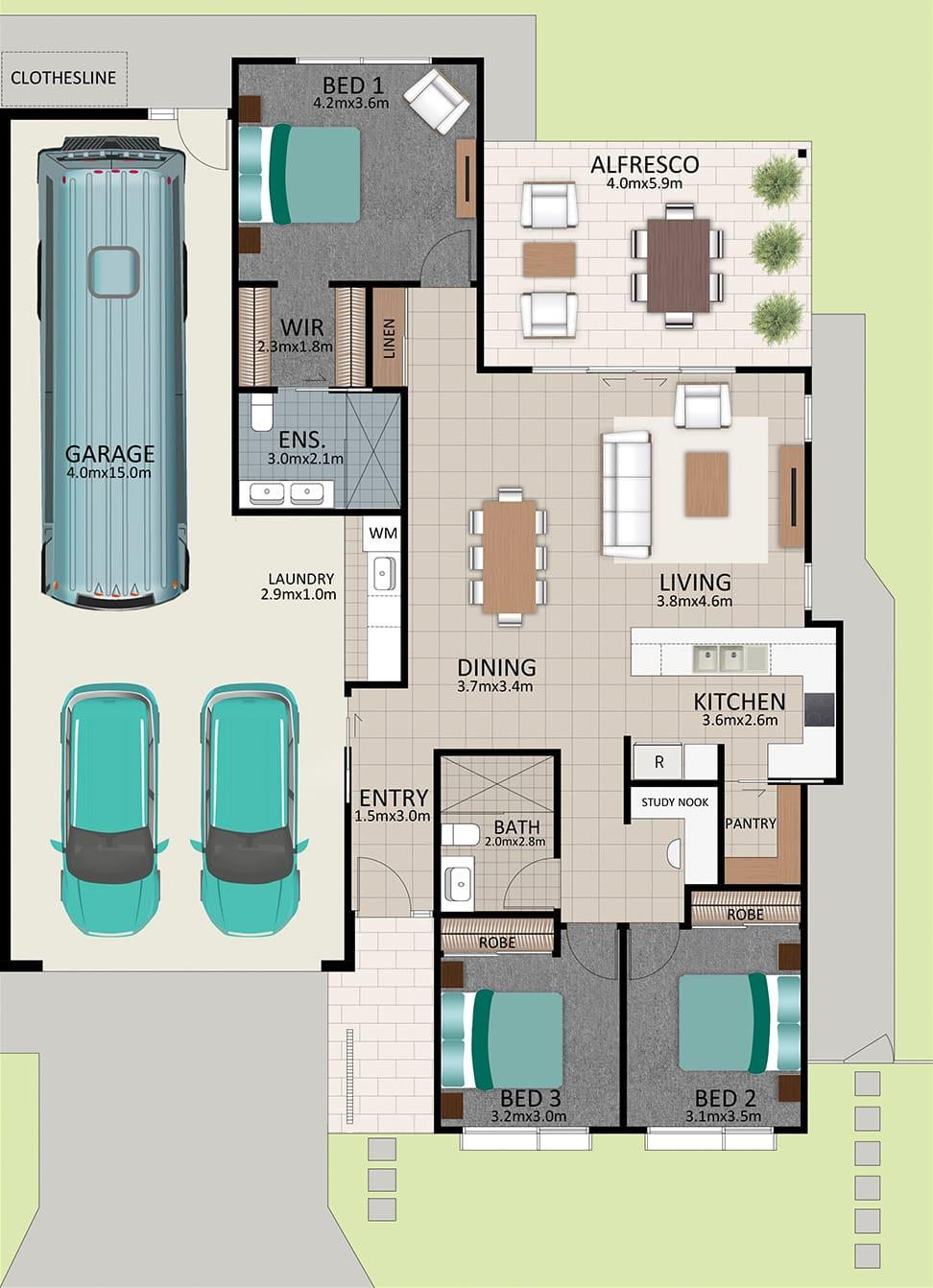 LR WEB LAT25 Floorplan LOT 180 Watson MK3 NOV19 - Lot 180