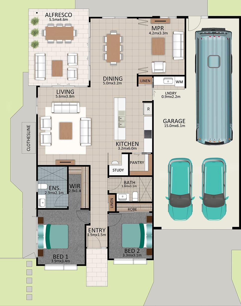 LR WEB LAT25 Floorplan LOT 183 Pepper NOV19 V1 - Lot 195
