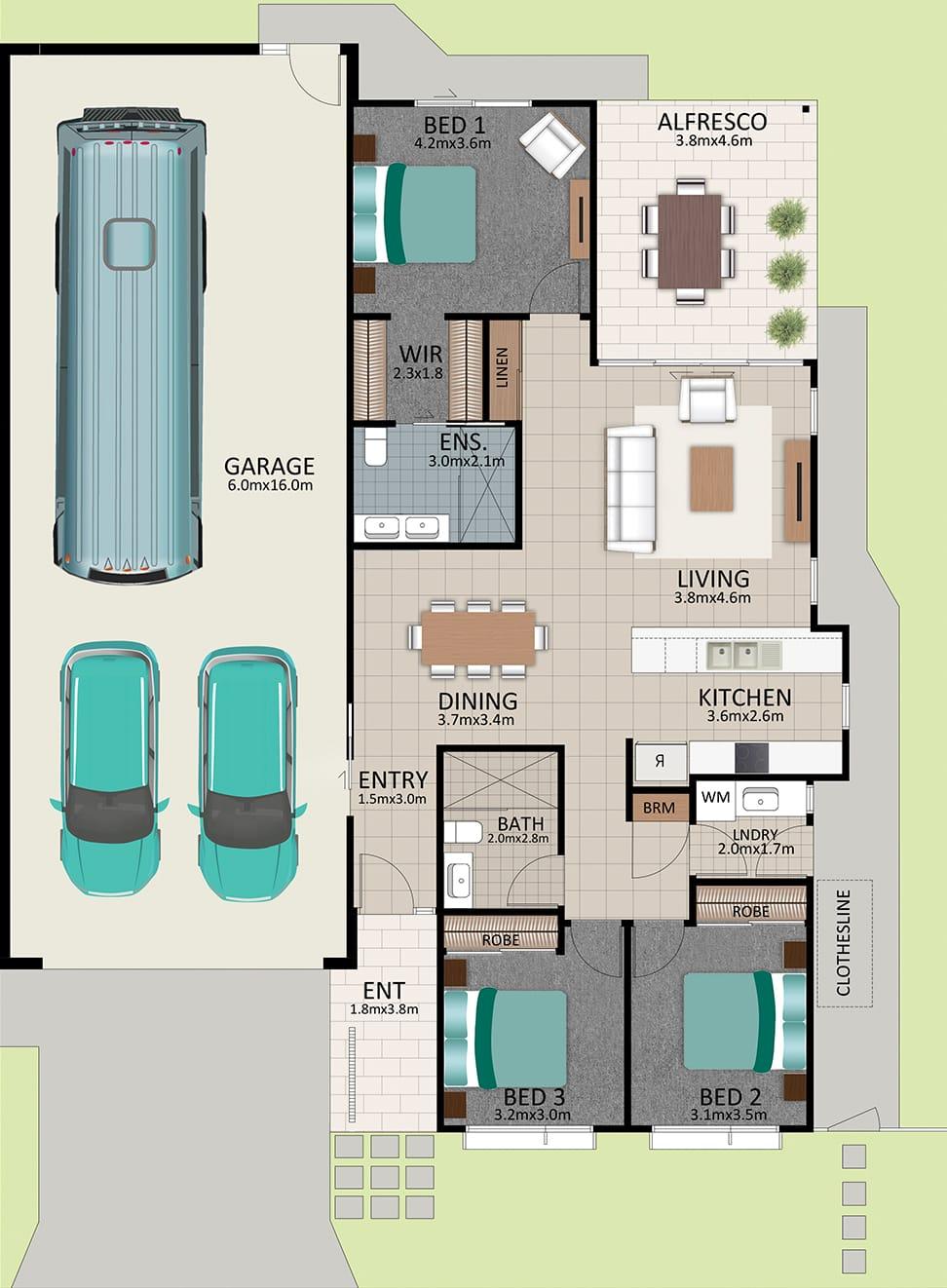 LR WEB LAT25 Floorplan LOT 184 Watson NOV19 V1 - Lot 184