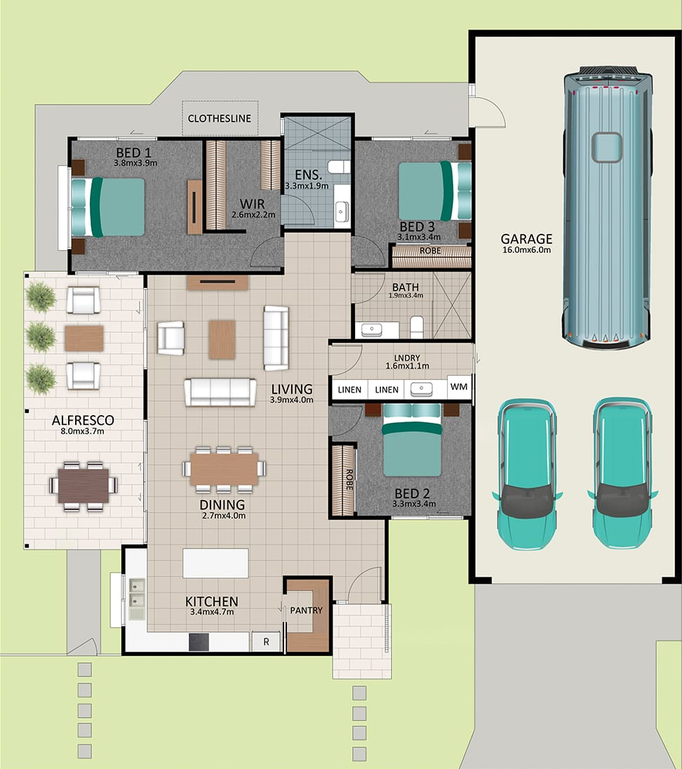 LR WEB LAT25 Floorplan LOT 186 Franklin MK2 NOV19 V1 - Lot 186