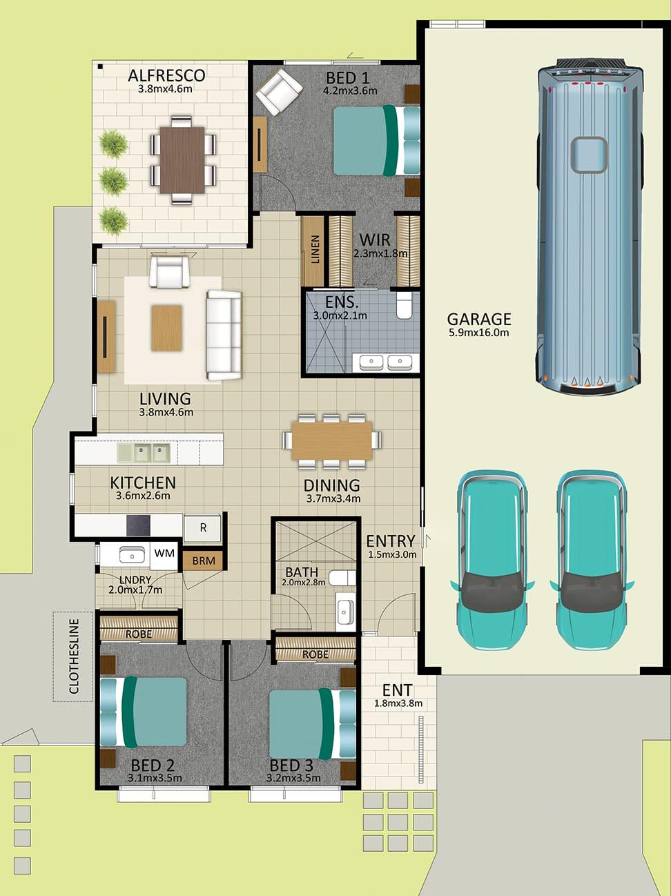 LR WEB LAT25 Floorplan Watson FEB19 - Lot 99