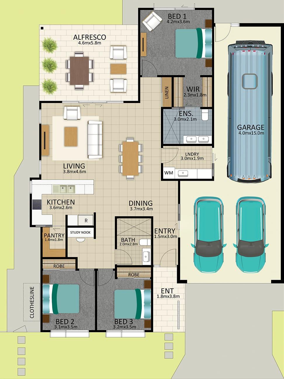 LR WEB LAT25 Floorplan Watson MK3 FEB19 - Lot 111