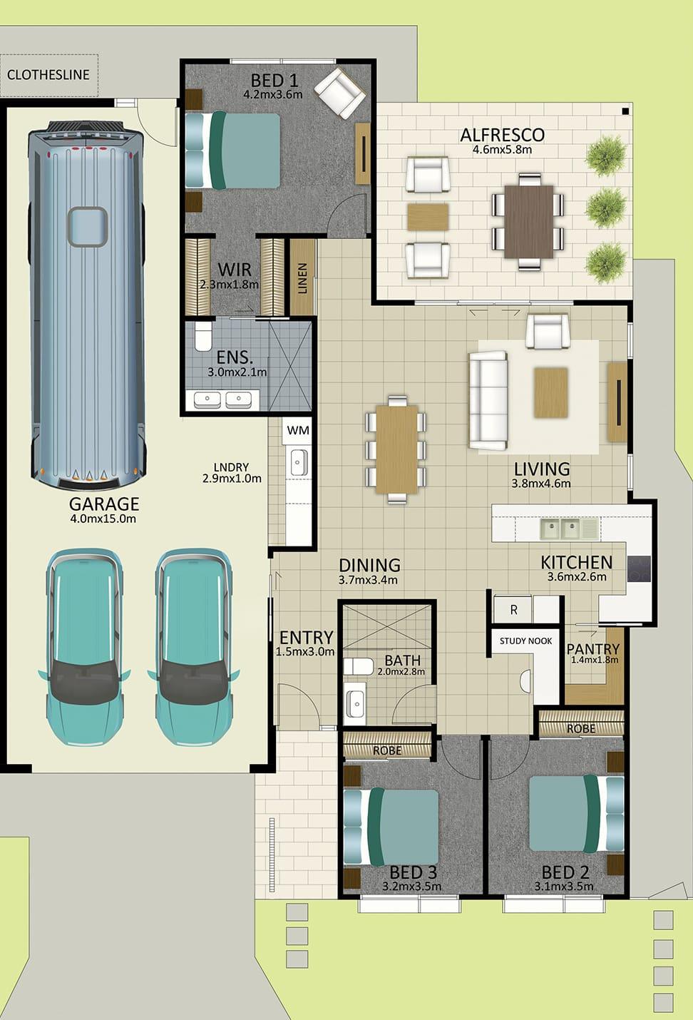 LR WEB Floorplan LOT 163 Watson MK3 JUL19 V1 - Lot 163