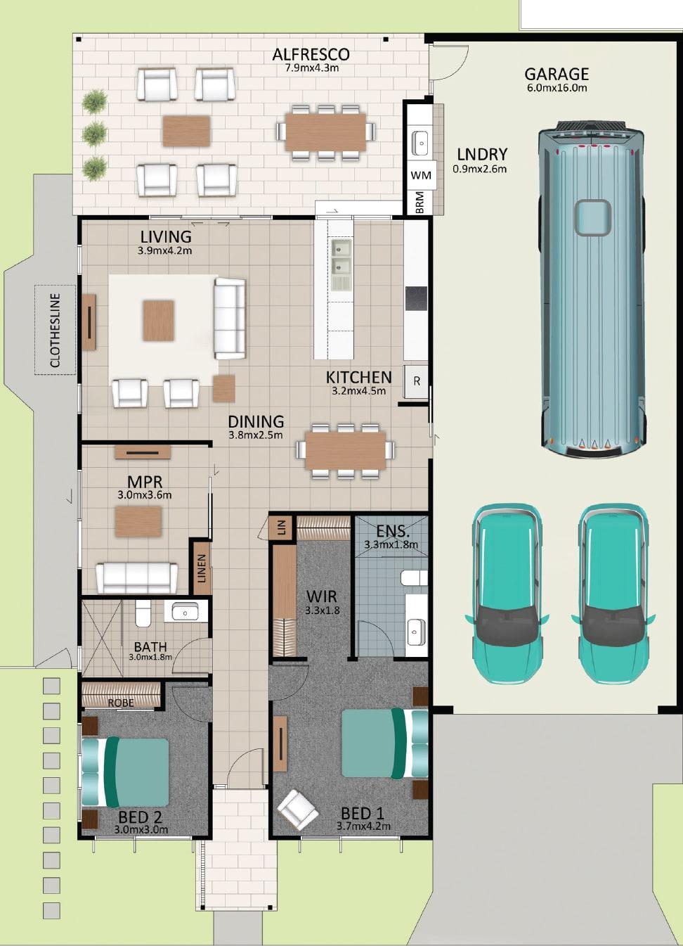 LAT25 Floorplan GAL LOT 227 FEB2021 V1 - Lot 227